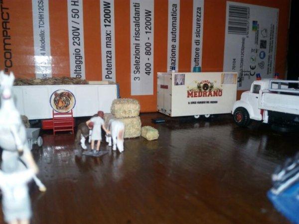 La cavalleria del circo medrano e le sue stalle.
