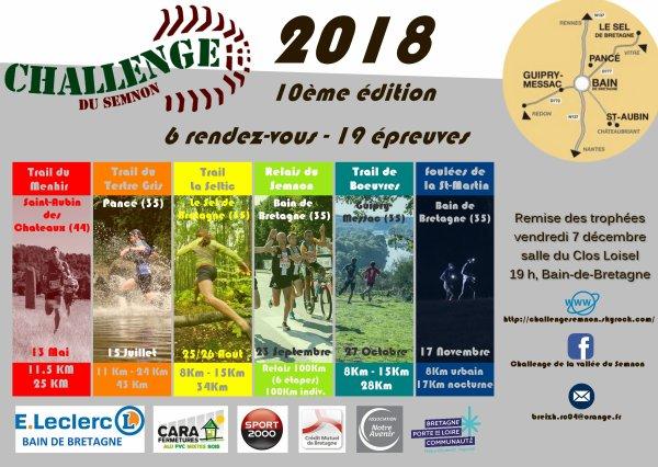 CHALLENGE DU SEMNON 2018, DIXIÈME ANNIVERSAIRE