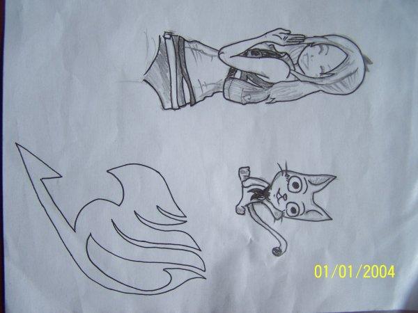 dessin de fairy tail fait par mon pote