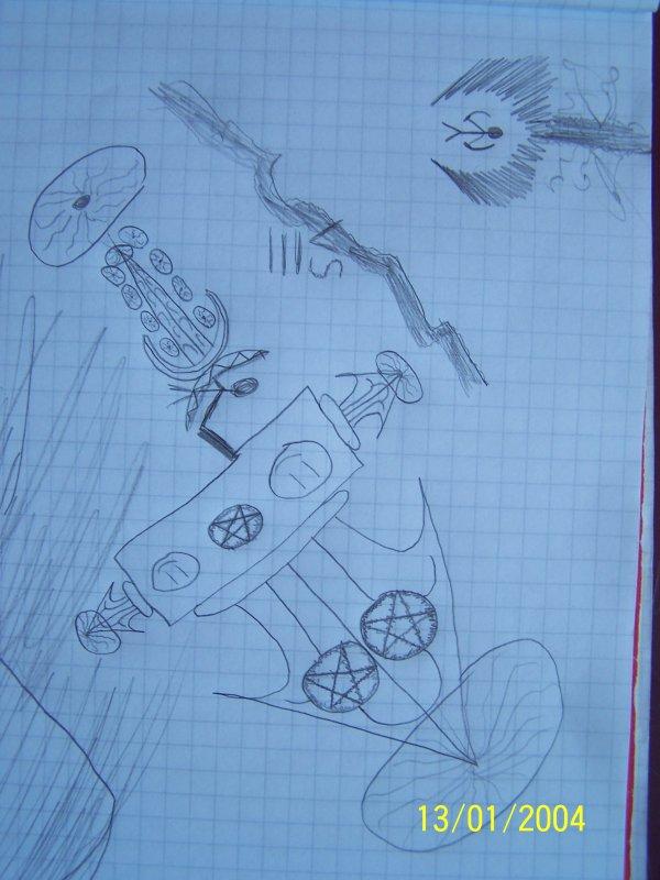 mes dessin et celui d'un pote oupresque hé hé