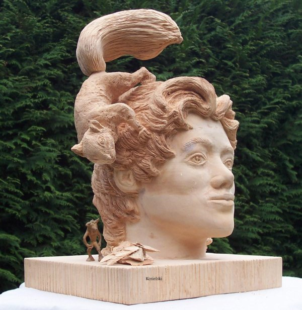 sculpture en bois , carving wood