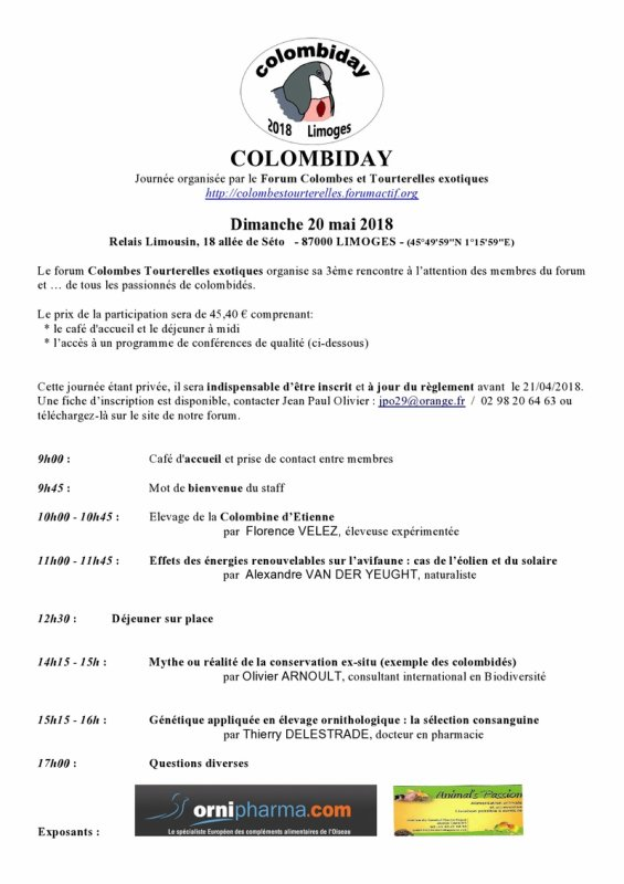 Colombiday, journée technique.