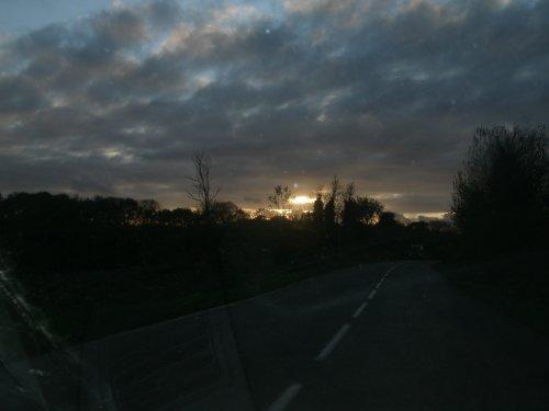 COUCHER DE SOLEIL CE MARDI 29 NOVEMBRE 2011