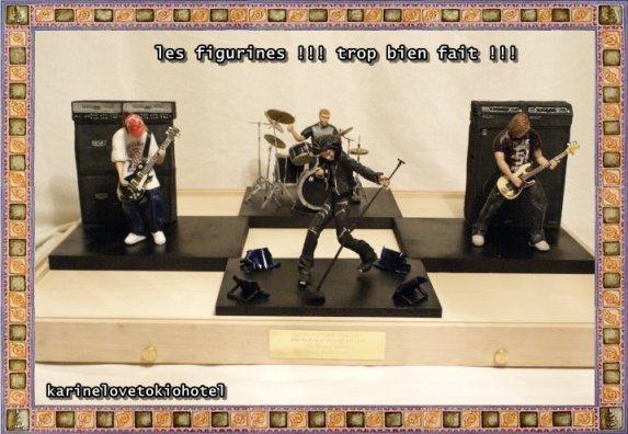 les figurines tokio hotel
