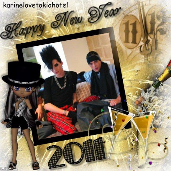 les tokio hotel vous souhaitent ses meilleurs voeux pour l'année 2011 ♥