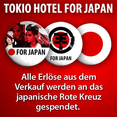 TOKIO HOTEL for Japan