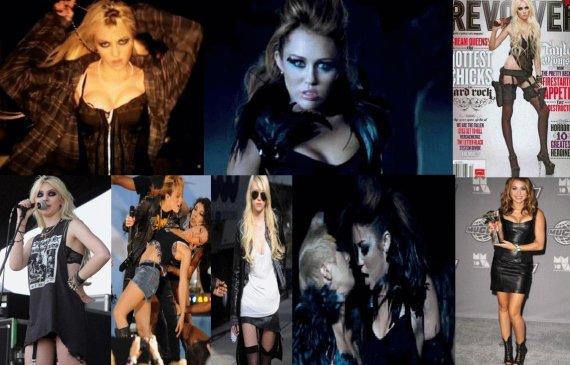 Enqute Qui Et La Plus Provocante Miley Cyrus Ou Taylor Momsen ???