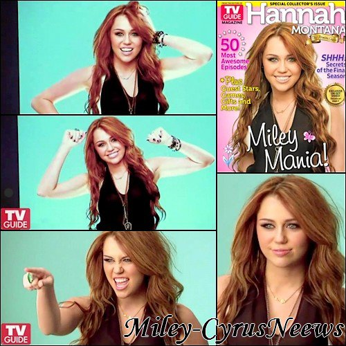 Les Photos Exclusive De Miley Qui Fait La Couverture Du TV Guide Magazine De Novembre/Décembre 2010