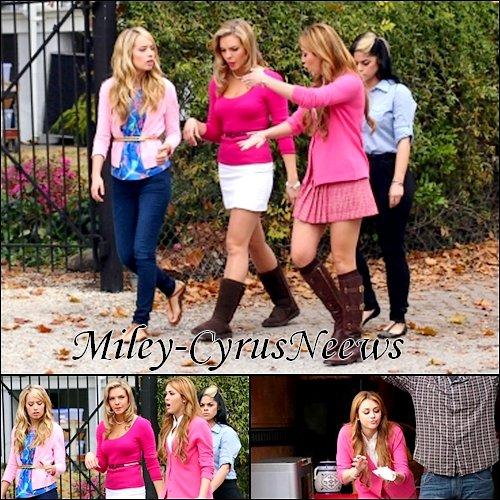 Le 23 Décembre : Pour Miley dernier jour du tournage 2010 de « So Undercover » + Miley et Kelly Osbourne nouvelle photos personnelles + Miley posant avec une fans