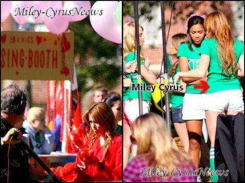Le 9/01/2011 :  Miley a été photographiée hier (8 janvier) sur le tournage de son film « So Undercover ».