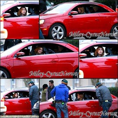 Le 17/01/2011 : Miley encore et toujours, sur le tournage de « So Undercover » photos datant d'hier (16 janvier).