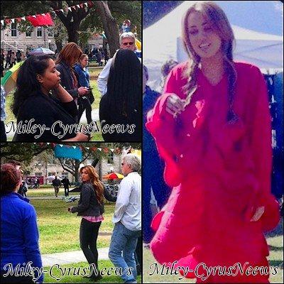"""Le 18/01/2011 : Miley dans les coulisses du tournage de « So Undercover » + Info ou Intox le film """"LOL"""" en UK le 21 octobre 2011 ??"""