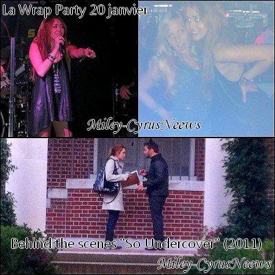 Le 23/01/2011 : On retrouve Miley sur le tournage de « So Undercover » photos datant d'hier (22 janvier).également des photos supplémentaires de la wrap party qui a eu lieu le (20 janvier) dernier, ainsi une photo des coulisses du film.