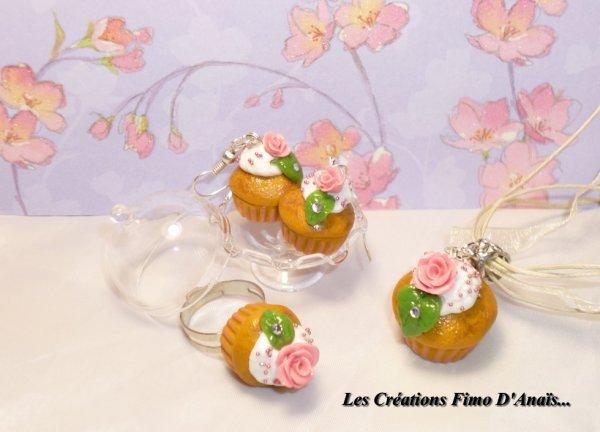 Parure Cupcake Vintage Romantique