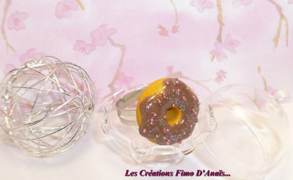 Bague donuts au chocolat  =)