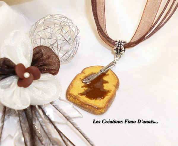 Collier Tartine & pâte de noisette  ^^