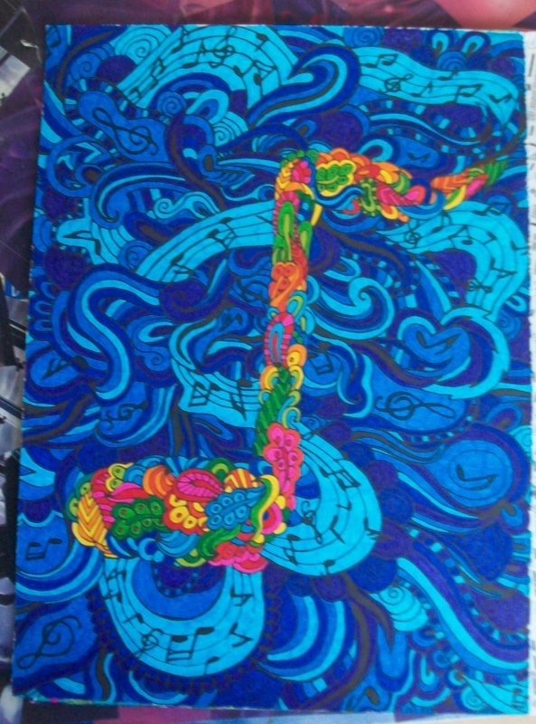 Planche de coloriage Zen