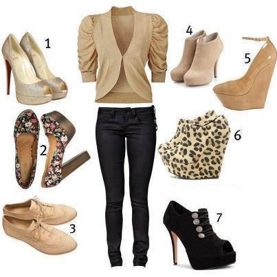 quelle paire de chaussure irai le mieux avec cette tenue?