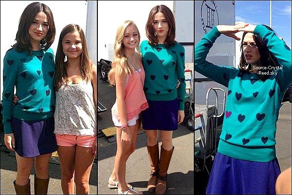 Crystal était récemment sur le set de Teen Wolf pour tourner la deuxième partie de la saison 3.