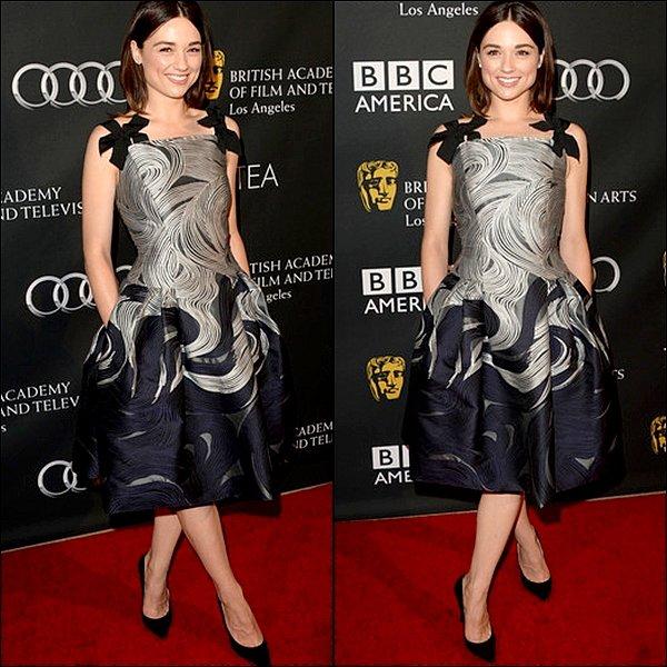 21/09 Crystal était toute adorable à l'évènement BAFTA LA TV Tea 2013.