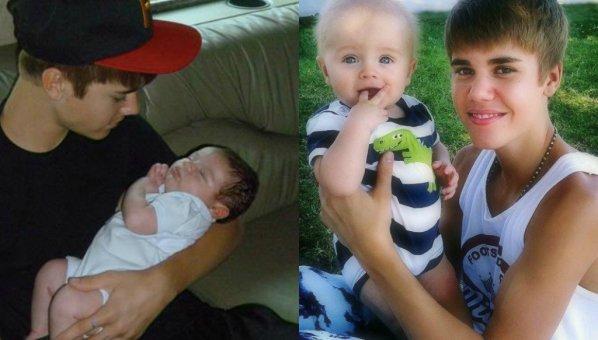 Je crois que Justin .. kiffe les bébés , Mdr.♥