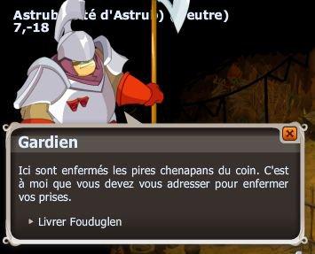 Les quêtes de la prison ( Fouduglen l'écureuil )