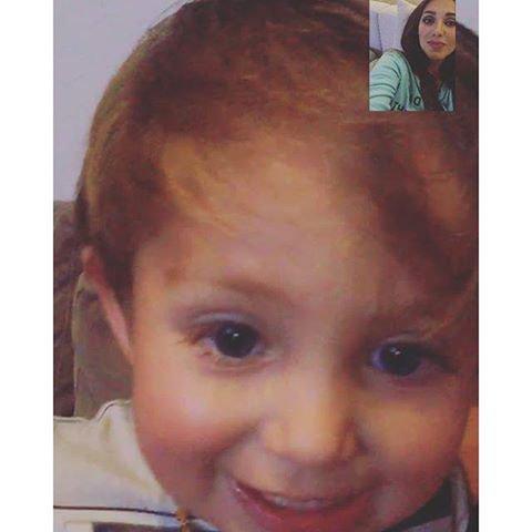 En webcam avec mon bébé tu me manque mon petit garçon