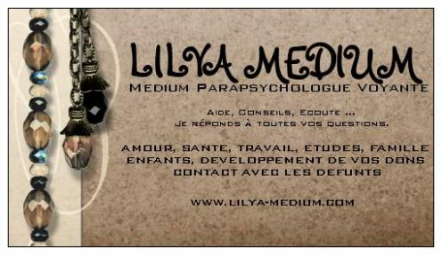 LILYA MEDIUM ® - CARTE DE VISITE