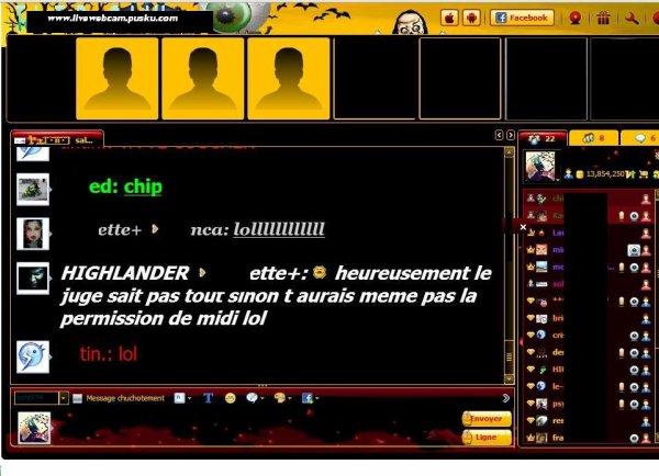 Live tchat webcam