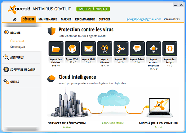 Avast Antivirus 8.0.1488 + Crack 2050 FRENCH