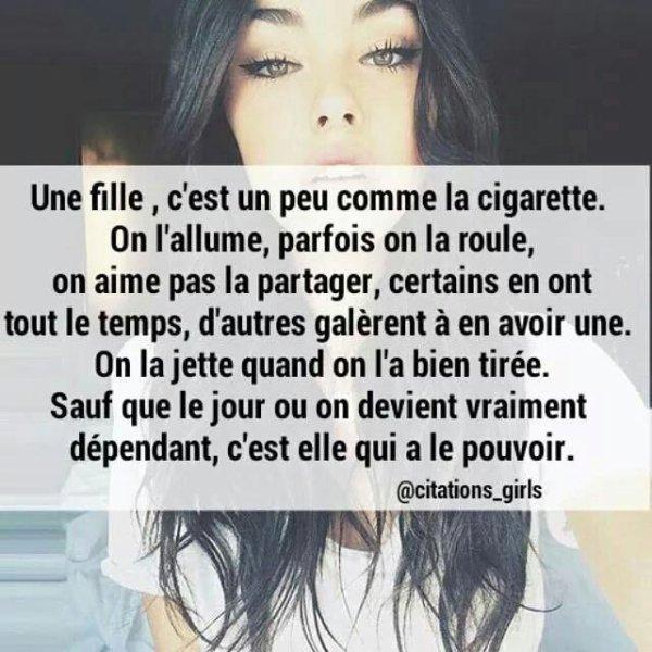 Fille ou cigarette