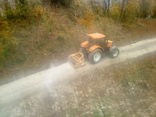 tracteur en action