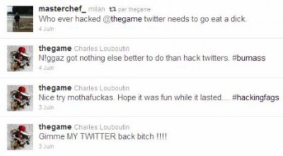Game s'est fait pirater son compte Twitter