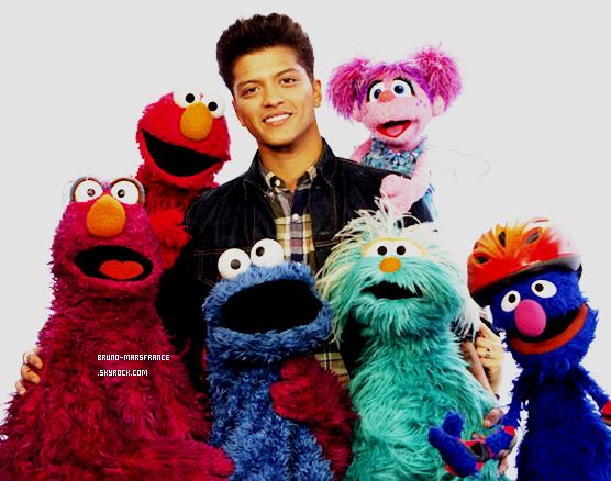 25/11- Bruno Mars sur Sesame Street .