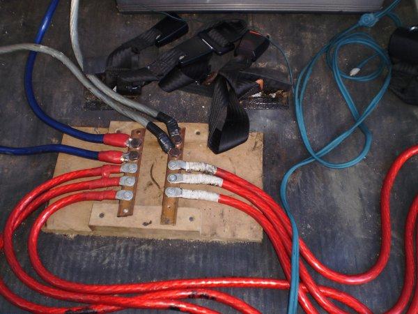 pasage des cables en 50² et les rca