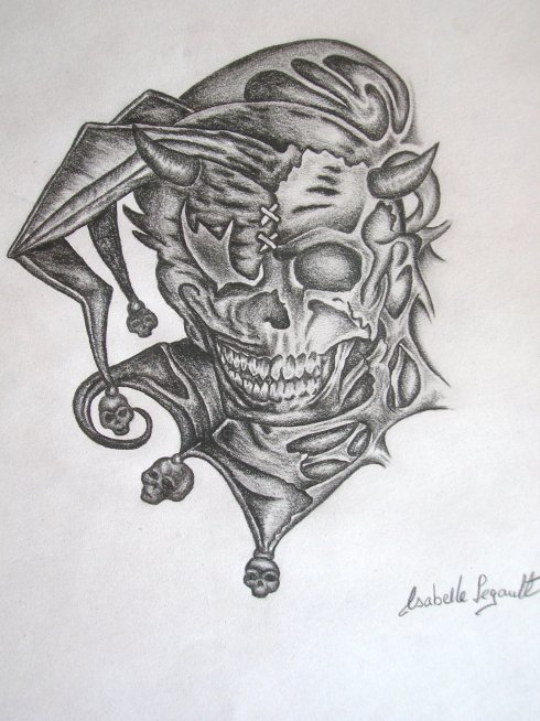 Mon dernier dessin joker skull ll - Le joker dessin ...
