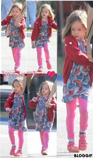 Seraphina Affleck : shopping avec maman Jen !