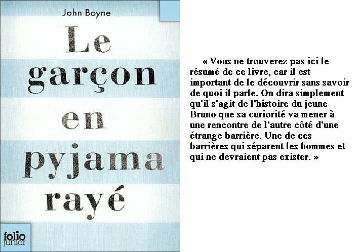 Le garçon en pyjama rayé ☾ John Boyne