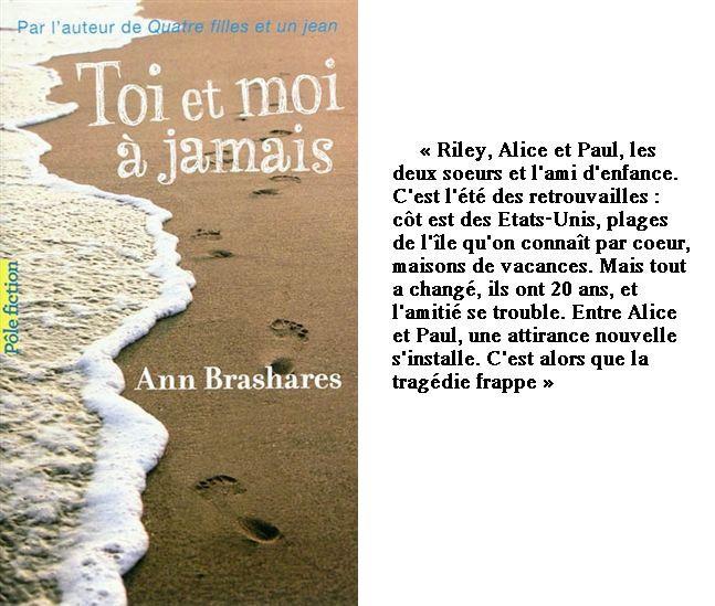 Toi et moi à jamais ☾ Ann Brashares