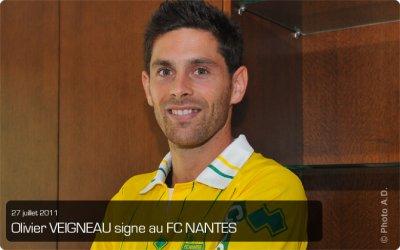 Olivier VEIGNEAU signe au FC Nantes