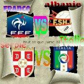 france 3- 0 Albanie et Serbie  1-  1 Italie