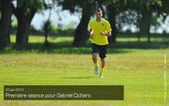 Gabriel cichero (1er entraînement )