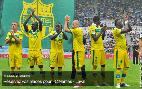 3eme journée: fc. Nantes 3-1 Laval