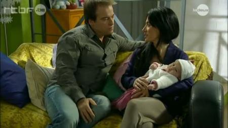 Lucie Boher avec ses parents