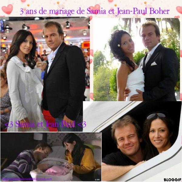 3 ans de mariage à Samia et Jean Paul Boher