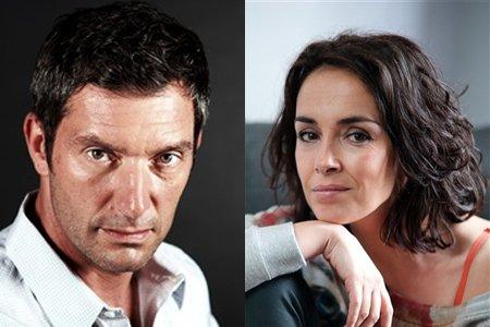 Stéphanie Pareja (Jeanne) et Franck Sémonin (ex Patrick) dans « Un parfum de sang »