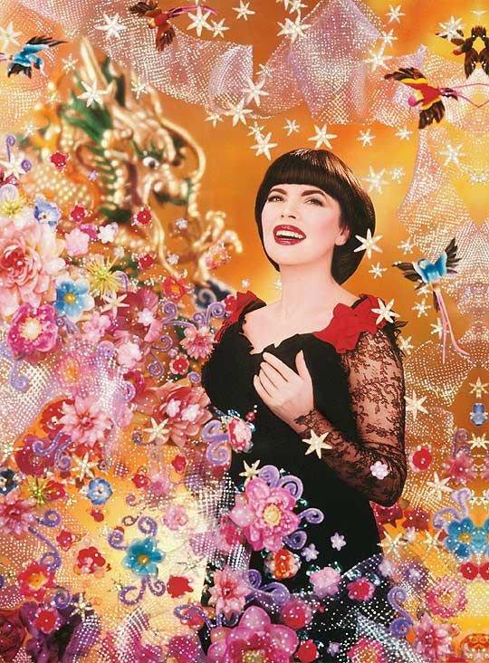 Histoire d'une ½uvre : Pierre & Gilles, Fleur de Shangaï (Mireille Mathieu), 2005