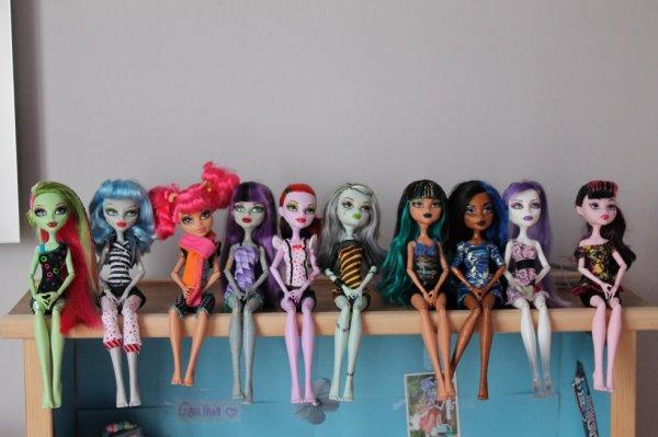 Toutes mes poupées!<3