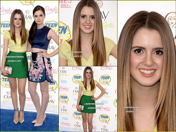 Laura Marano avec Vanessa Marano aux Teen Choice Awards.