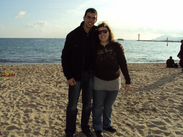 Chéri et mois sur la plage!!!